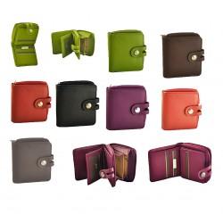 Porte-monnaie femme cuir